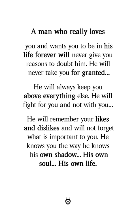 A man who wants to be with you